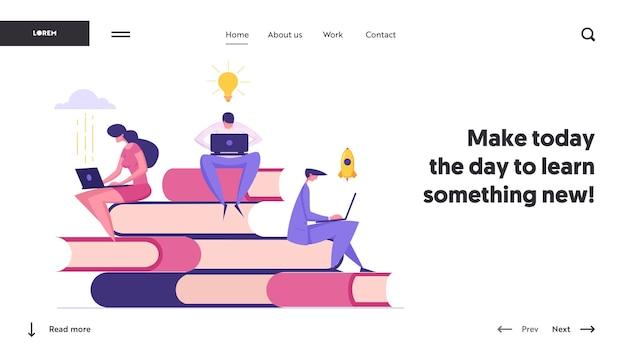 Modelo de página inicial de conceito de educação a distância online