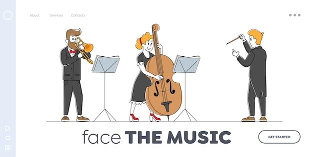 Modelo de página inicial de conjunto instrumental