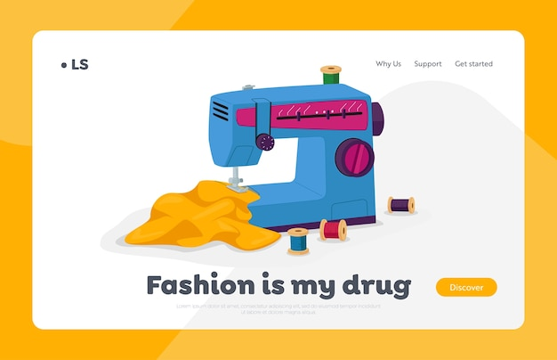 Modelo de página inicial de design de moda de vestuário e vestuário