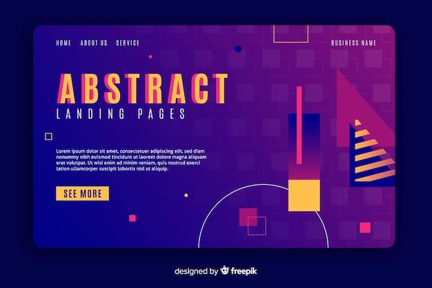 Modelo de página inicial de formas geométricas abstratas