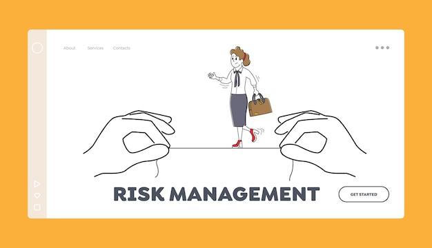 Modelo de página inicial de gerenciamento de risco