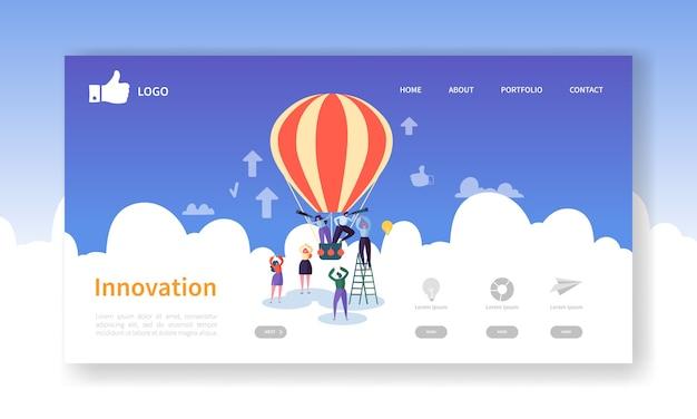 Modelo de página inicial de inovação empresarial
