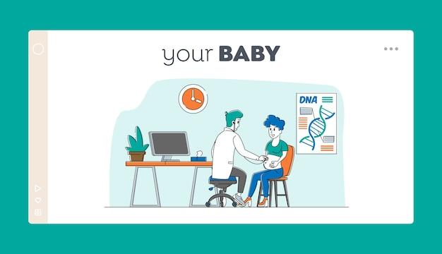 Modelo de página inicial de maternidade