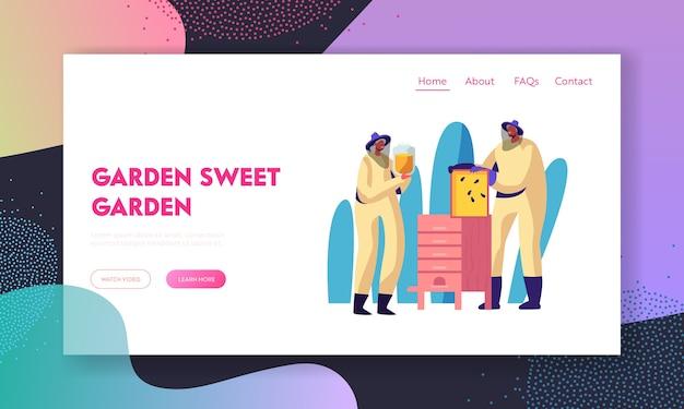 Modelo de página inicial de passatempo de apicultura para pessoas idosas