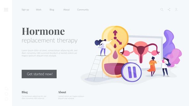 Modelo de página inicial de terapia de reposição hormonal