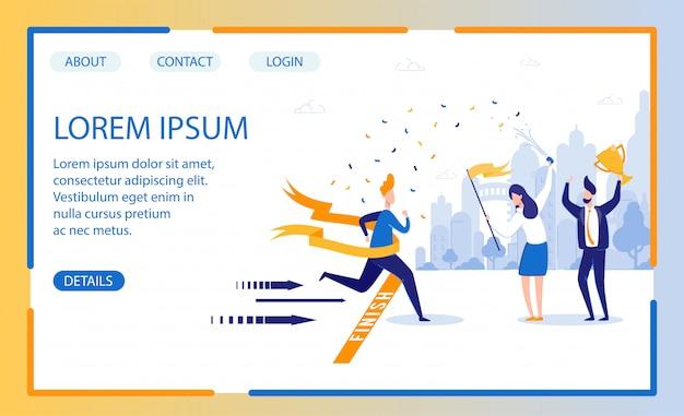 Modelo de página inicial do projeto de treinamento de negócios