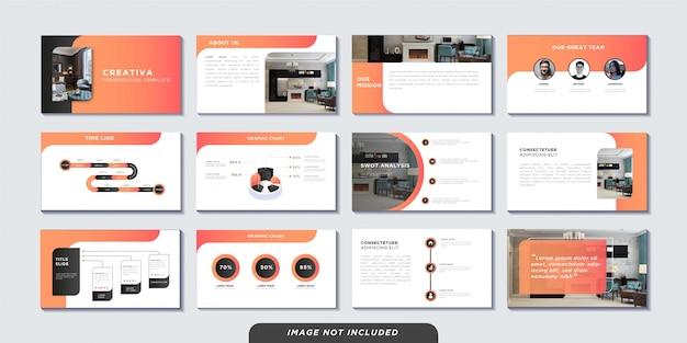 Modelo de páginas de apresentação de negócios