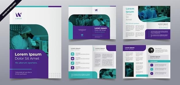 Modelo de páginas de brochura médica