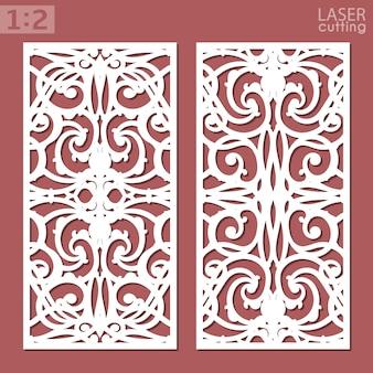 Modelo de painéis ornamentais. cartão de corte a laser. padrão de silhueta. papelada de recorte.