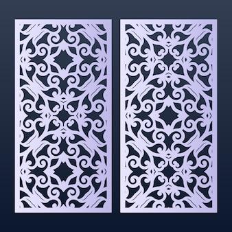Modelo de painéis ornamentais para corte.