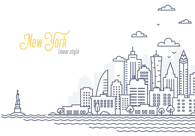 Modelo de paisagem da cidade de nova york