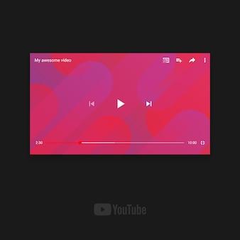 Modelo de paisagem do youtube para dispositivo móvel