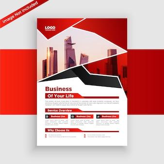 Modelo de panfleto comercial com formas criativas
