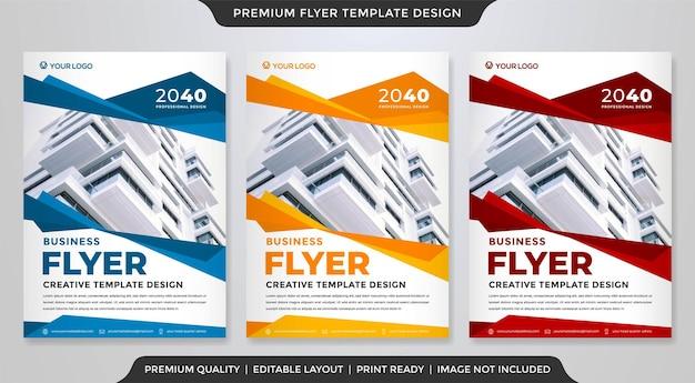 Modelo de panfleto comercial minimalista estilo premium