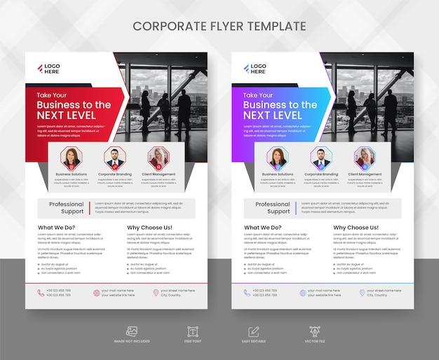 Modelo de panfleto corporativo e comercial