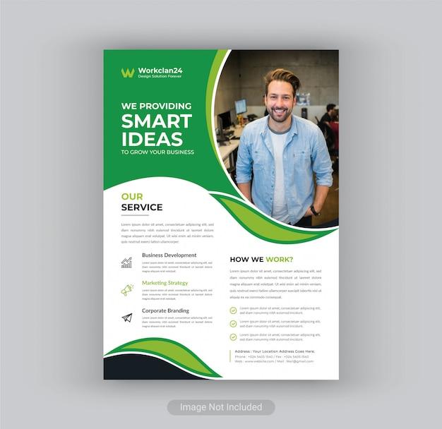 Modelo de panfleto da agência de marketing digital.