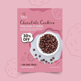 Modelo de panfleto de biscoitos com foto