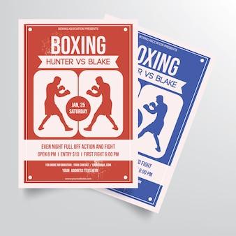 Modelo de panfleto de boxe