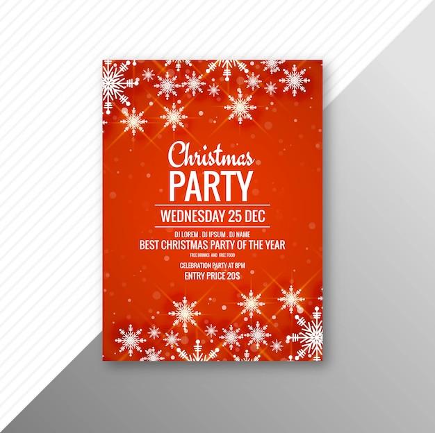 Modelo de panfleto de cartaz de festa de feliz natal