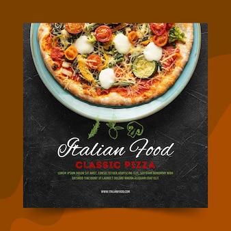 Modelo de panfleto de comida italiana
