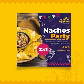 Modelo de panfleto de comida mexicana