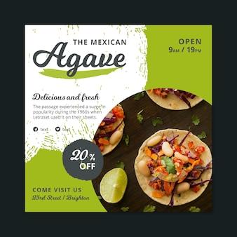Modelo de panfleto de comida mexicana Vetor grátis