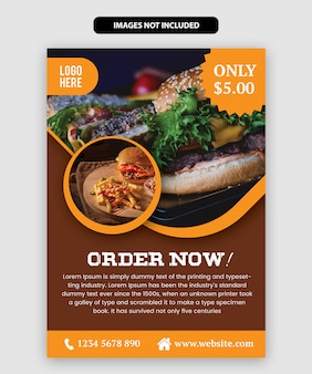 Modelo de panfleto de comida