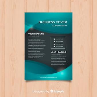 Modelo de panfleto de conceito de negócio