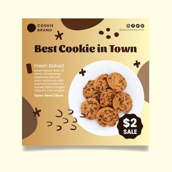 Modelo de panfleto de cookies deliciosos