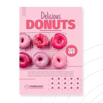 Modelo de panfleto de donuts deliciosos
