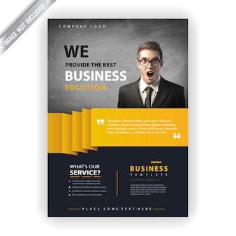 Modelo de panfleto de empresa de negócios