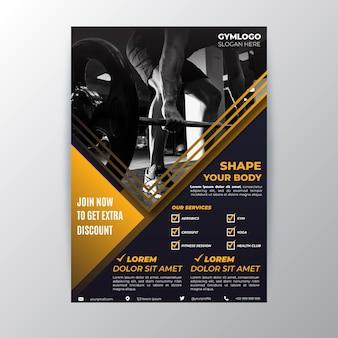 Modelo de panfleto de esporte com foto