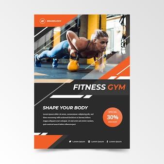 Modelo de panfleto de esporte com imagem