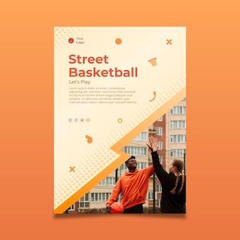Modelo de panfleto de esporte gradiente