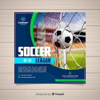 Modelo de panfleto de esporte