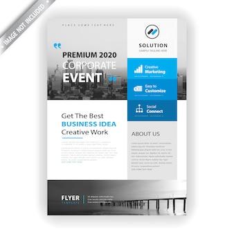 Modelo de panfleto de evento corporativo
