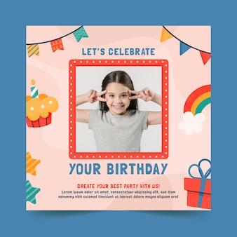 Modelo de panfleto de festa de aniversário