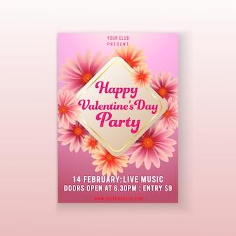 Modelo de panfleto de festa de dia dos namorados