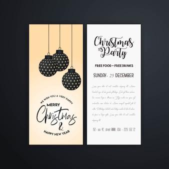 Modelo de panfleto de festa de natal vintage