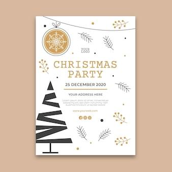 Modelo de panfleto de festa de natal