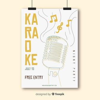 Modelo de panfleto de festa de noite de karaoke