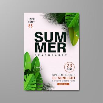 Modelo de panfleto de festa de praia verão