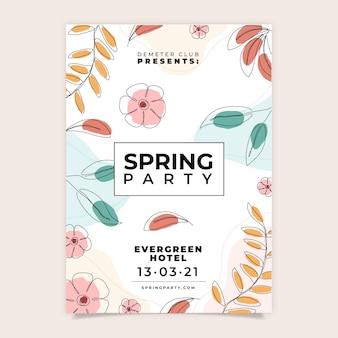 Modelo de panfleto de festa de primavera