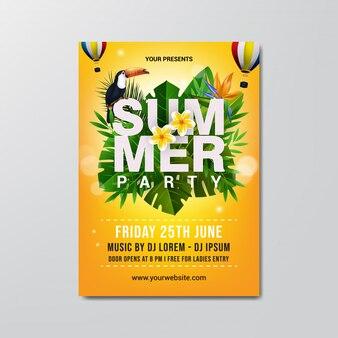 Modelo de panfleto de festa de verão.