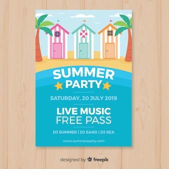 Modelo de panfleto de festa de verão