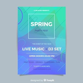 Modelo de panfleto de festa primavera abstrata