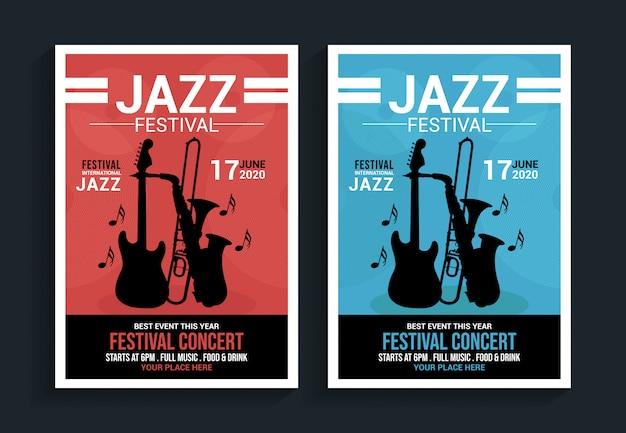 Modelo de panfleto de festival de jazz