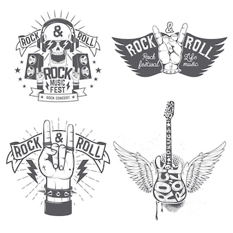Modelo de panfleto de festival de rock