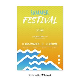 Modelo de panfleto de festival de verão