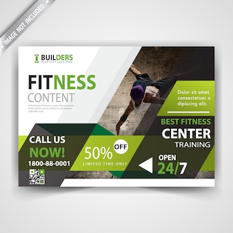 Modelo de panfleto de fitness
